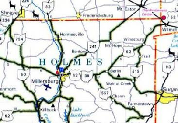 Holmes County map